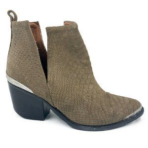 Jeffrey Campbell Cromwell Suede Western Ankle Boot